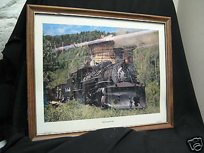 Photo framed Narrow Gauge Freight Cresco John Briggs Photo framed
