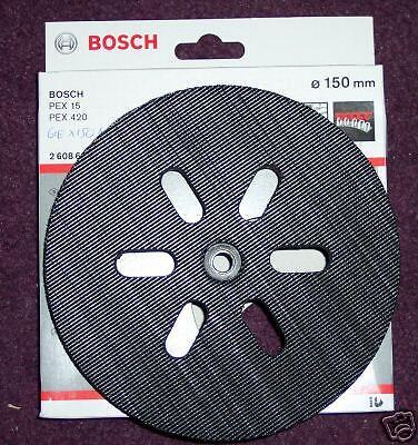 Bosch Backing Pad Hook Loop150mm 2 608 601 052 PEX15 PEX420 GEX150AC