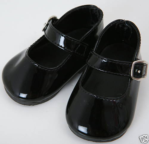 PATENT BLACK SHOES PERFECT FIT FOR BABY ANNABELL